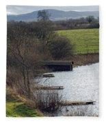 A Shropshire Mere Fleece Blanket