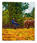 A Simpler Time Impasto Fleece Blanket