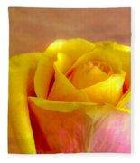 A Single Rose Fleece Blanket