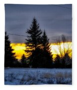 A Sleepy Morning Sunrise Fleece Blanket