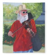 A Slim Fiddler For Peace Fleece Blanket