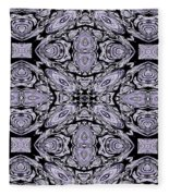 A Sliver Of Silver Abstract Fleece Blanket