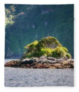 A Small Rocky Island At Doubtful Sound Fleece Blanket
