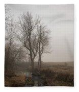 A Small Rural Creek  Fleece Blanket