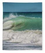 A Small Tube Wave In Atlantic Ocean Fleece Blanket