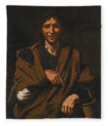A Smiling Beggar Fleece Blanket