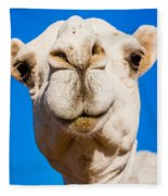 A Smiling Camel Fleece Blanket