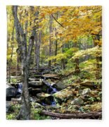 A Smokey Mountain Stream  Fleece Blanket