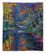 A Smoky Mountain Autumn Fleece Blanket