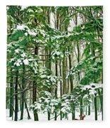 A Snowy Day - Paint Fleece Blanket