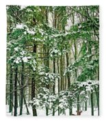 A Snowy Day Fleece Blanket