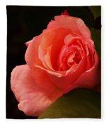 A Soft Rose  Fleece Blanket