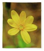 A Soft Yellow Flower  Fleece Blanket