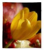 A Softer Shade Of Yellow Fleece Blanket