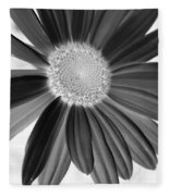 A Solo Daisy In Negative Fleece Blanket