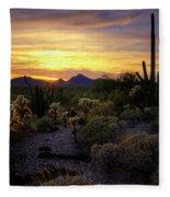 A Southern Arizona Sunset  Fleece Blanket