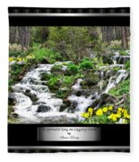 A Splendid Day On Logging Creek Fleece Blanket