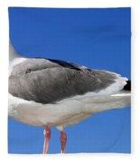 A Splendid Seagull Fleece Blanket