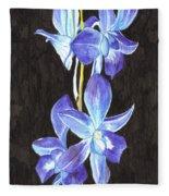 A Spray Of Orchids Fleece Blanket