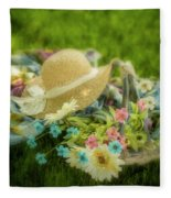A Spring Afternoon Fleece Blanket