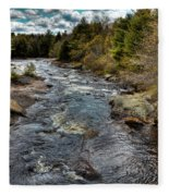 A Spring Day At Little Woodhull Creek Fleece Blanket