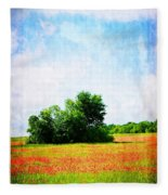 A Spring Day In Texas Fleece Blanket