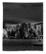 A Spring Day On Old Forge Pond Fleece Blanket