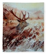A Stag Fleece Blanket