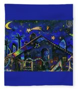 a star in Bethlehem Fleece Blanket