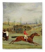 A Steeplechase - Another Hedge Fleece Blanket