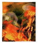 A Sting Like Fire Fleece Blanket