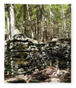 A Stone Structure In The Berkshire Hills Fleece Blanket