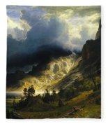 A Storm In The Rocky Mountains Mt. Rosalie, 1866 Fleece Blanket