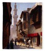 A Street In Cairo Fleece Blanket