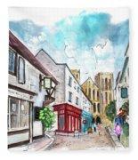 A Street In Ripon Fleece Blanket