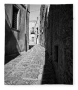 A Street In Sicily Fleece Blanket