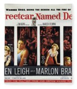 A Streetcar Named Desire Wide Poster Fleece Blanket