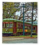 A Streetcar Named St. Charles Fleece Blanket