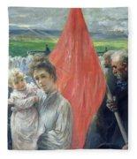 A Strike At Saint Ouen Fleece Blanket