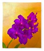 A Study In Orchid Fleece Blanket