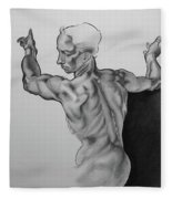 A Study Of Michelangelo Work Fleece Blanket
