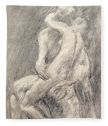 A Study Of Rodin's Kiss In His Studio Fleece Blanket