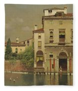 A Sultry Day In Venice Fleece Blanket
