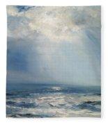 A Sunbeam Over The Sea Fleece Blanket