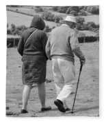 A Sunday Stroll In The Country Fleece Blanket
