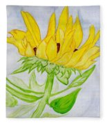 A Sunflower Blessing Fleece Blanket