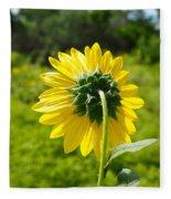 A Sunflower's Backside Fleece Blanket