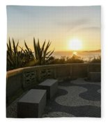 A Sunset Relaxation Zone - Fleece Blanket