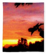 A Sunset With A Different Mood Fleece Blanket