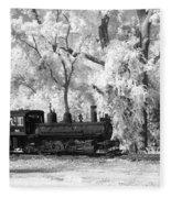 A Surreal Train Ride Fleece Blanket